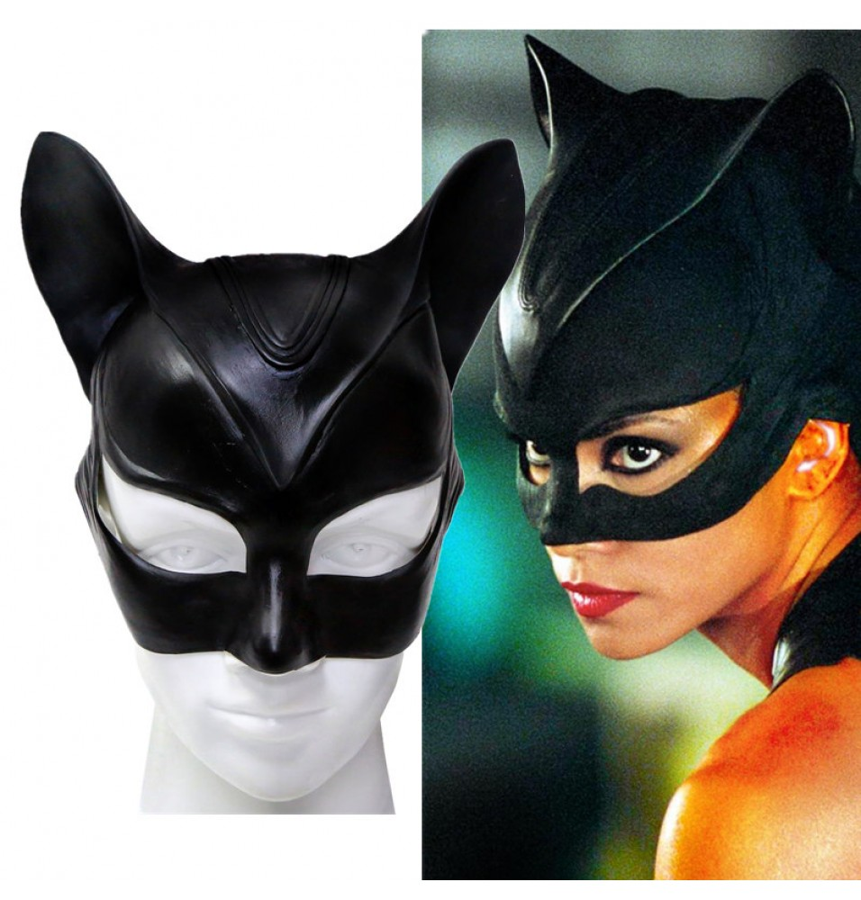 Timecosplay Catwoman Latex Mask Halloween Cosplay Mask
