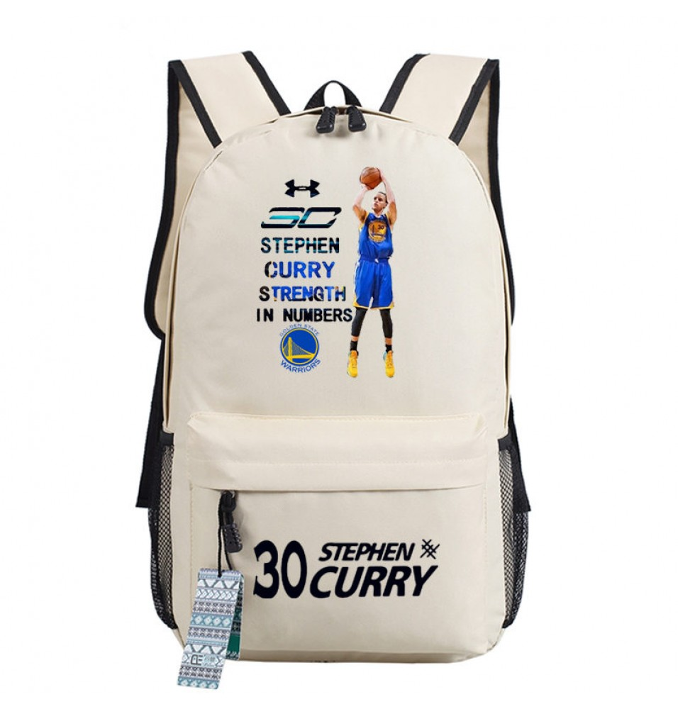 Timecosplay Golden State Warriors Team 30 Stephen Curry MVP Shoulders Bag Schoolbag
