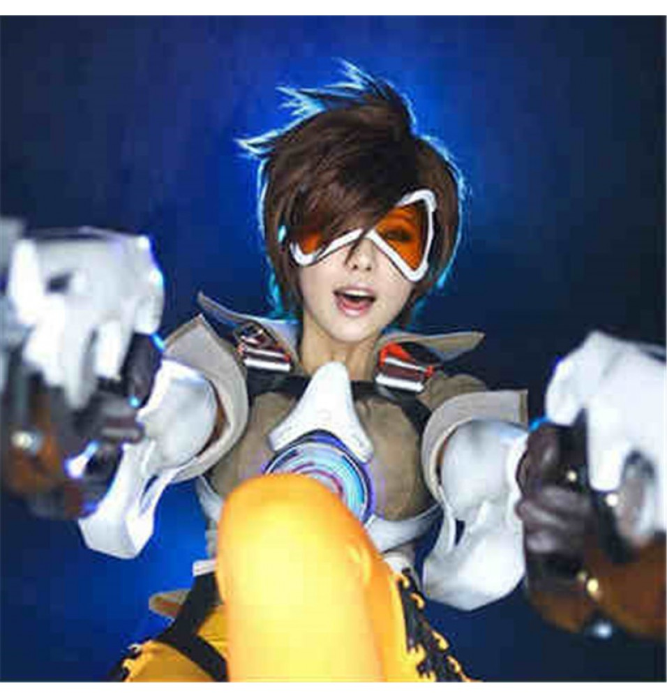 Timecosplay Overwatch OW Tracer Cosplay Wigs