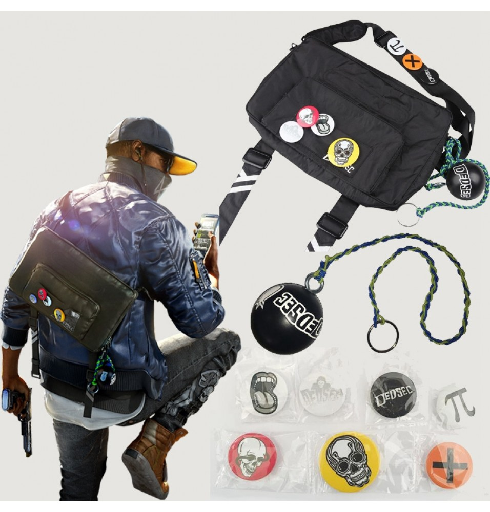 Watch Dogs 2 Marcus Bag Holloway Cosplay Bag Free Badge