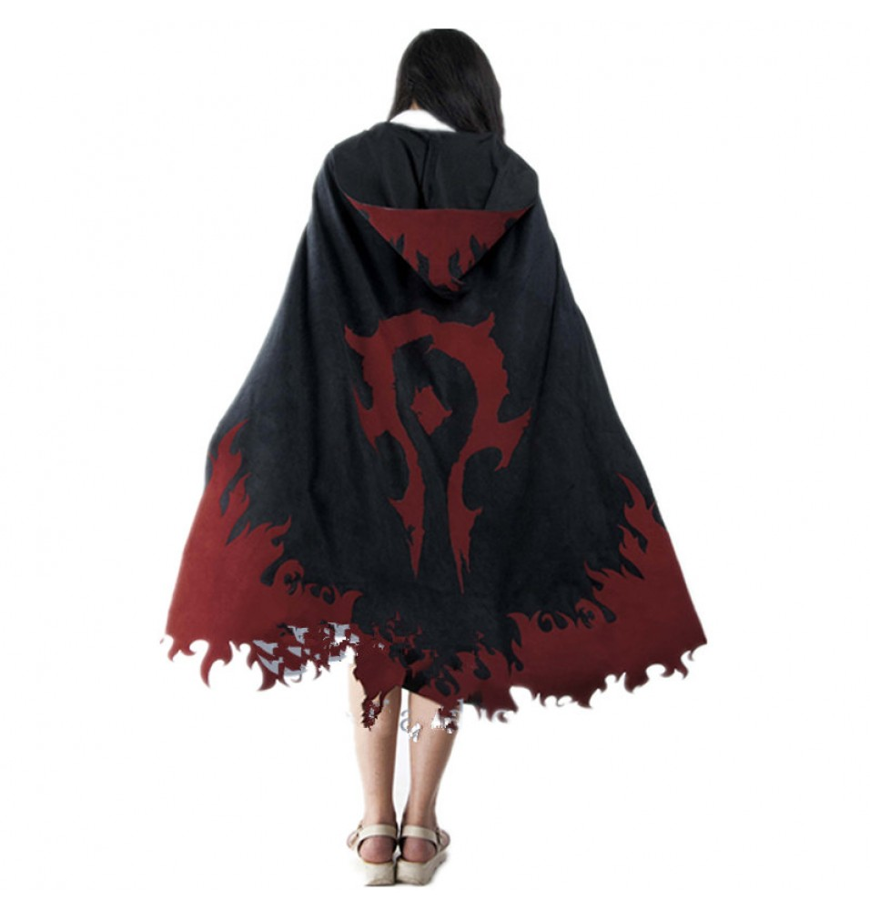 WOW World Of Warcraft Cosplay Tribal Cloak The Flame Pattern