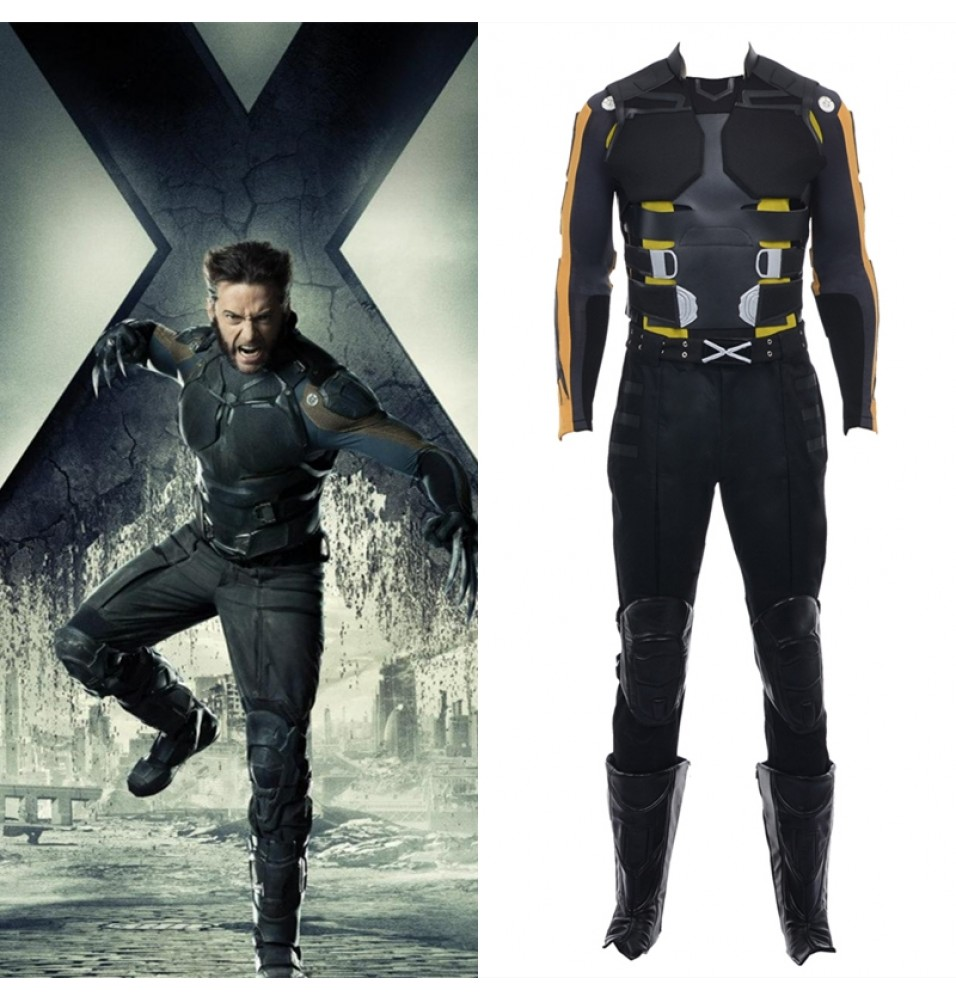 X-Men Days of Future Past Wolverine Cosplay Costume Logan Outfit