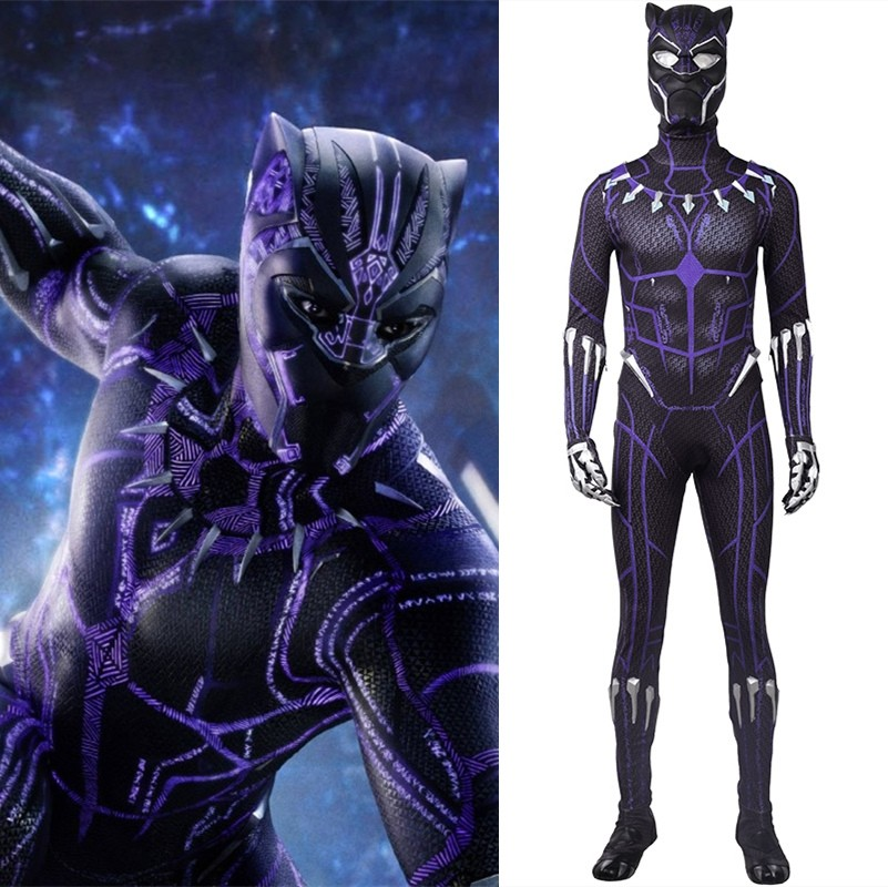 2018 Black Panther Cosplay Costume Purple Jumpsuit