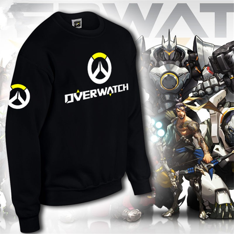 Overwatch Icon Men's Zipper Hoodie Long Tee Shirt
