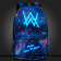 Timecosplay Alan walker Noctilucent Luminous backpack Schoolbag booksbag