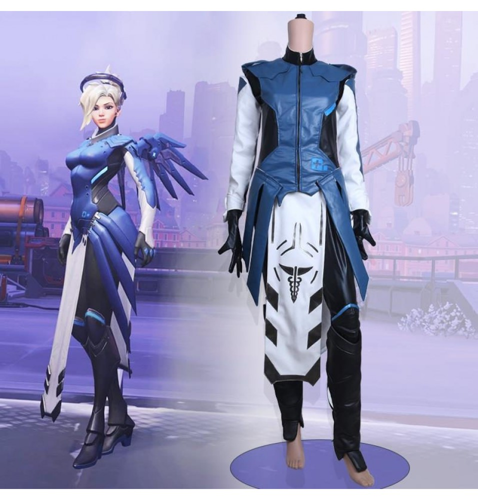 Timecosplay OW Overwatch Mercy Cosplay Halloween Costumes
