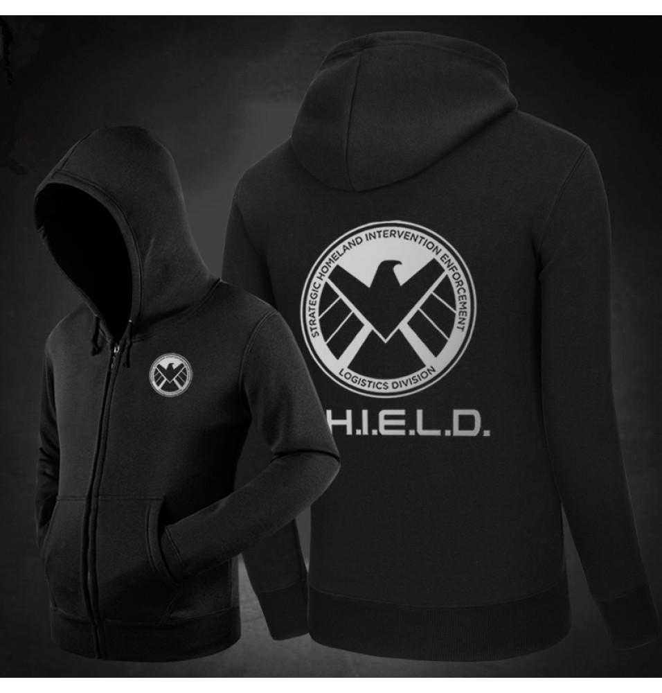 Agents of S.H.I.E.L.D.Logo Zipper Hoodies