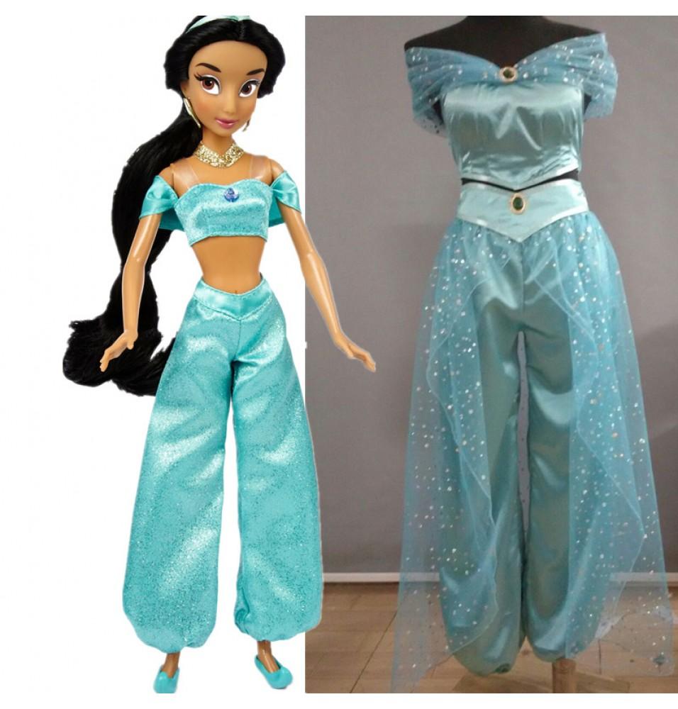 Animation Aladdin Princess Jasmine Halloween Party Deluxe Costume Cosplay