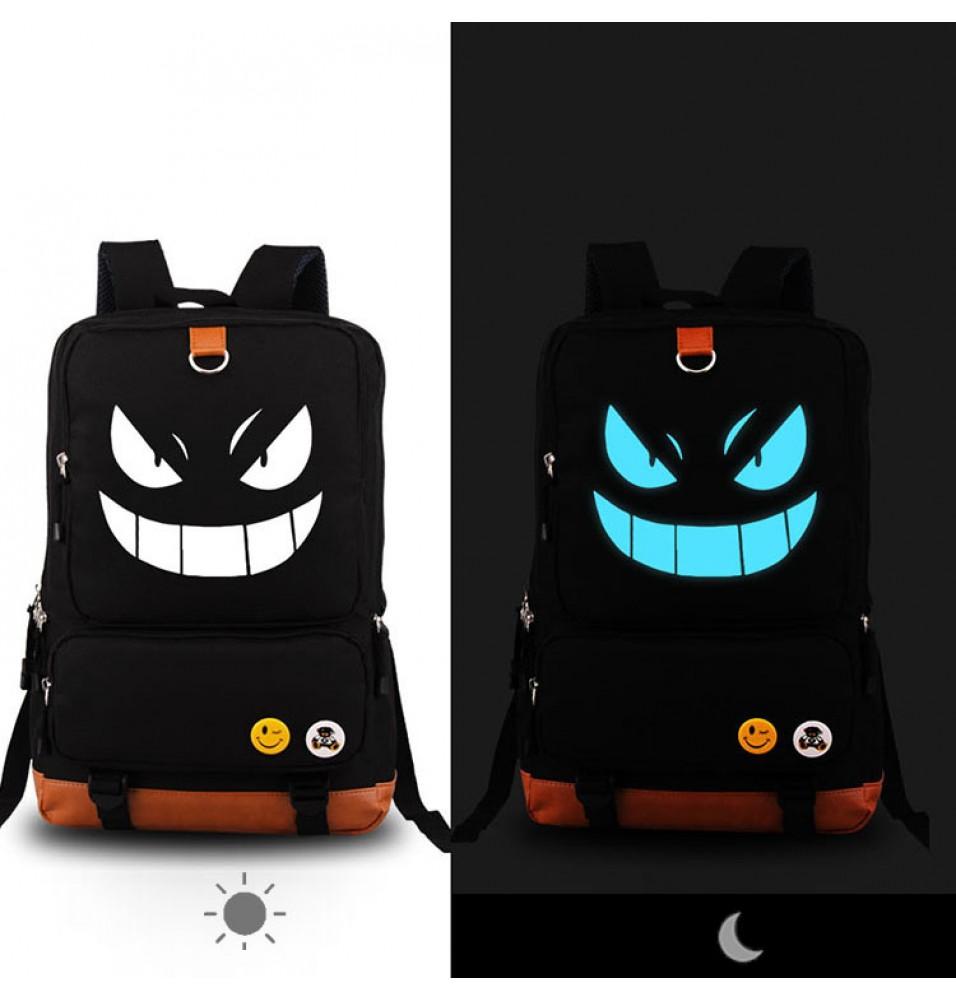 Anime Pokemon Pikachu Luminous Backpack Shoulder School Bag