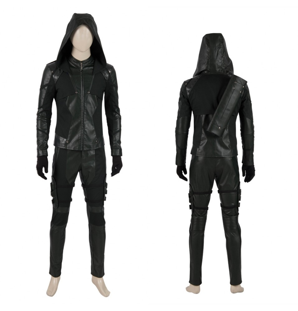 Arrow 8 Oliver Queen Green Arrow Cosplay Costume