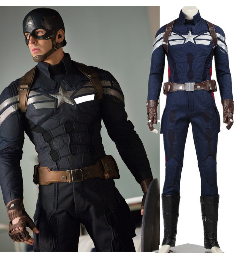 Captain America 2 The Winter Soldier Captain America Cosplay Steve Rogers Original Costume