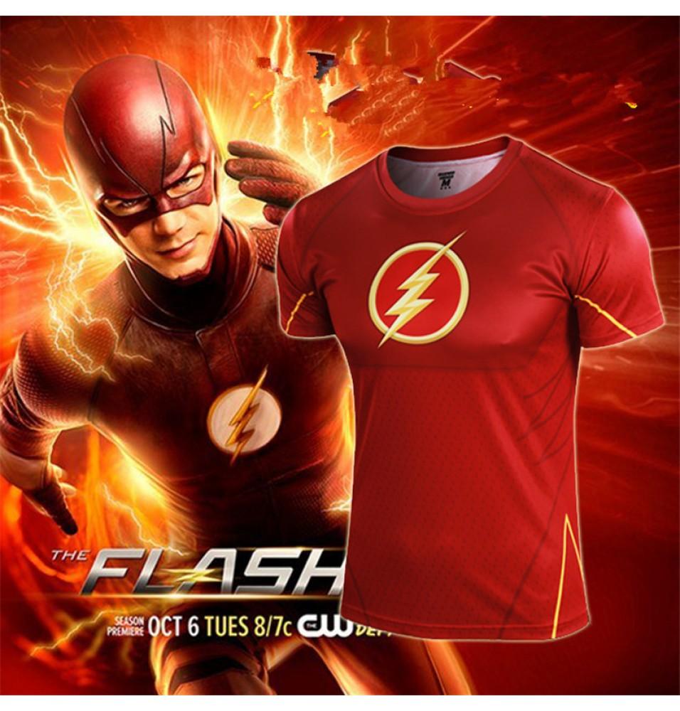 DC Super Hero The Flash Cosplay Tee Shirt T-Shirts