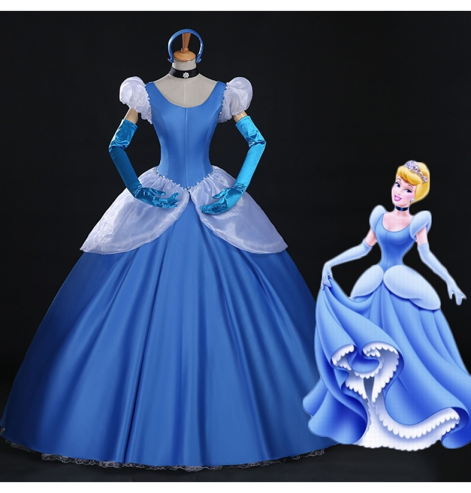 Disney Princess Cinderella Cosplay Gorgeous Dress Costume