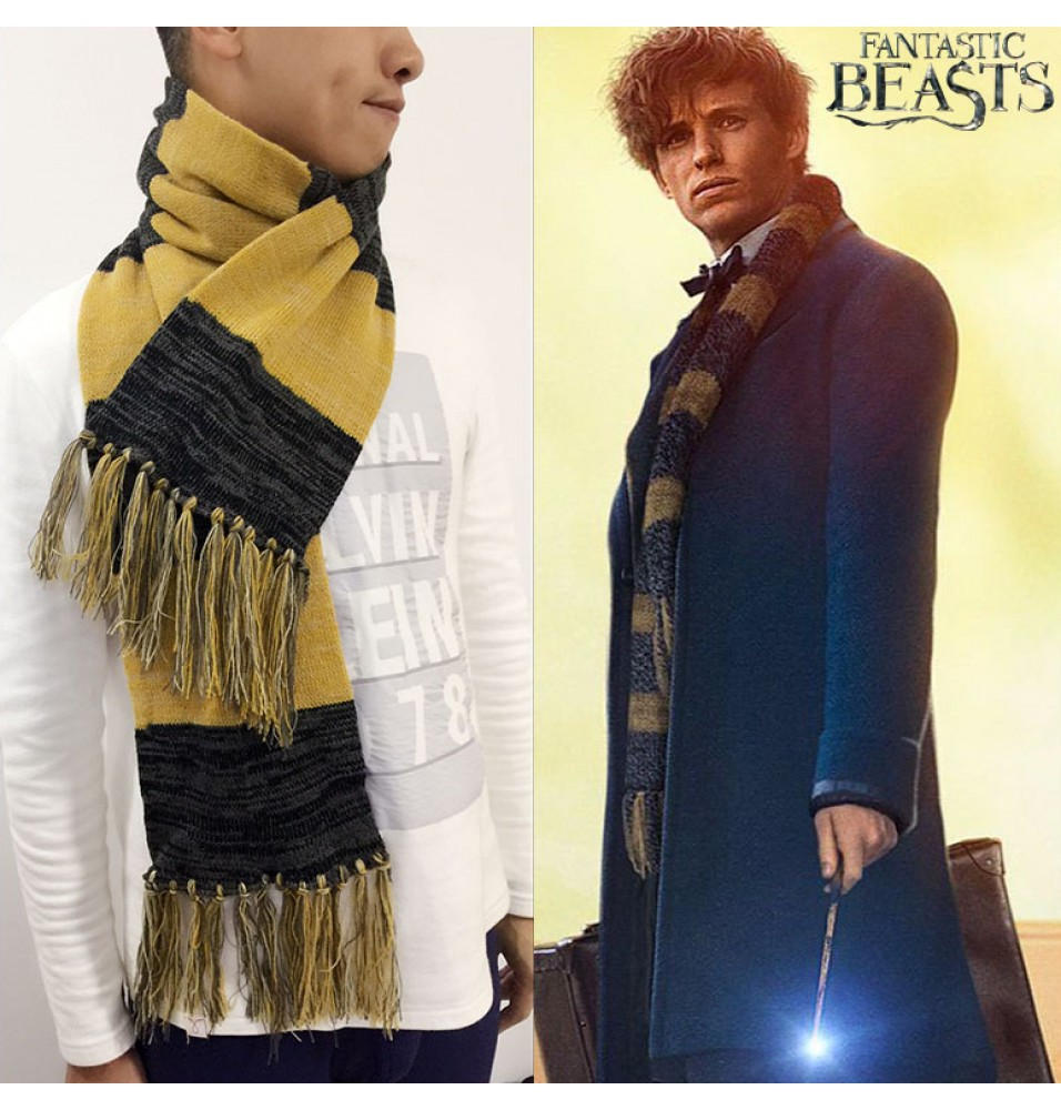 Fantastic Beasts and Where to Find Them Newt Scamander Jacquard Cosplay Scarf - Deluxe Edition