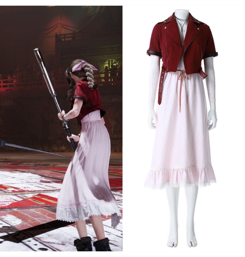 Final Fantasy VII Remake Aerith Cosplay Dress Costume