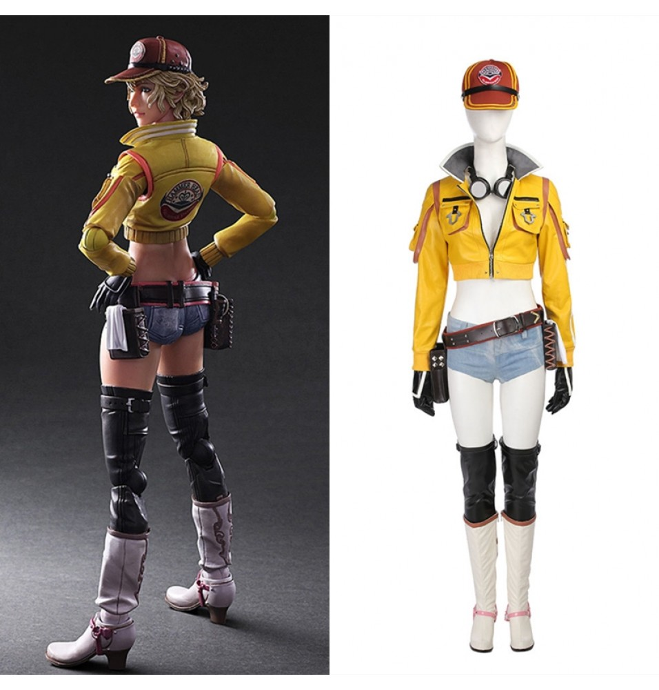 Final Fantasy XV Cindy Aurum Cosplay Costume Deluxe Outfit