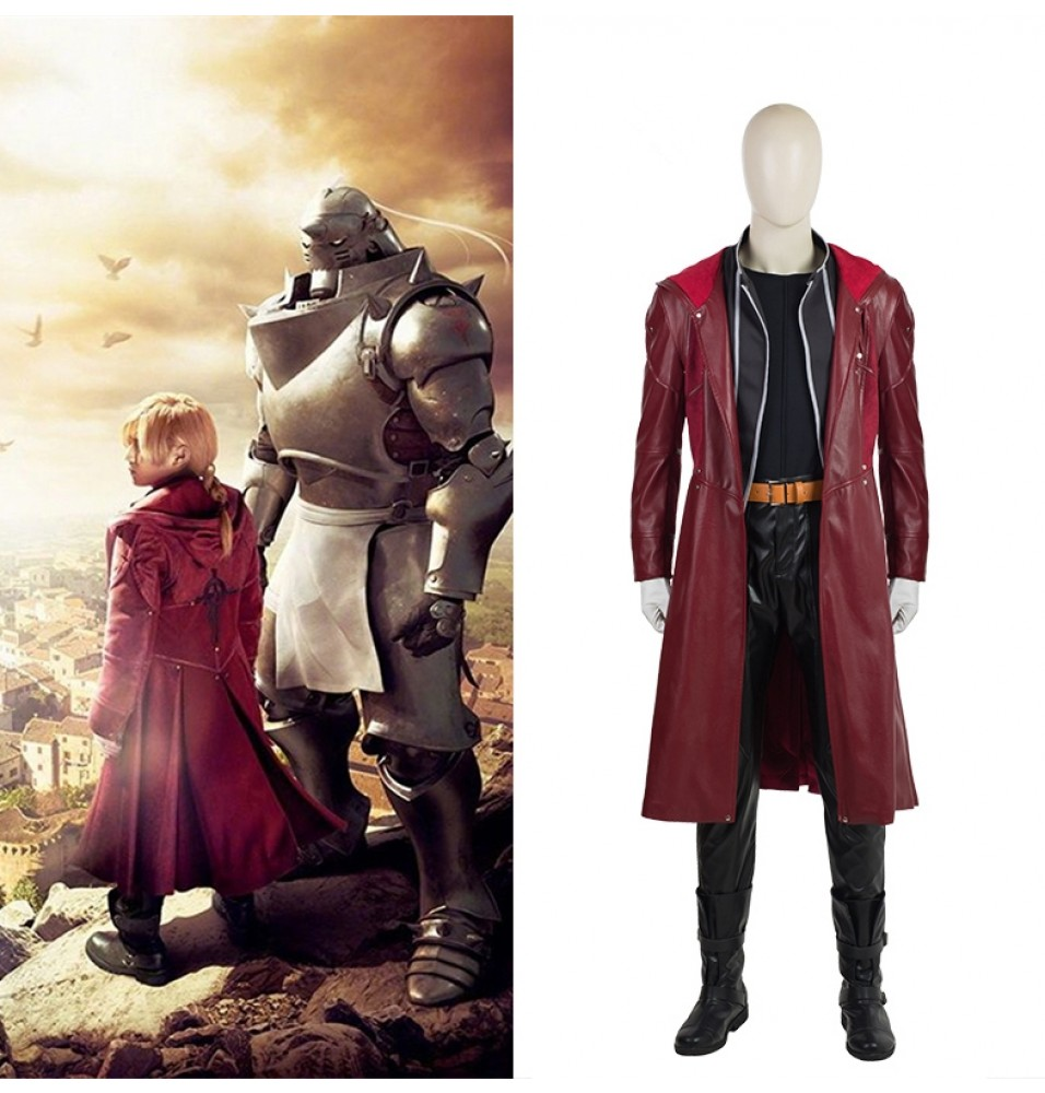 Fullmetal Alchemist Edward Elric Cosplay Costume Deluxe Outfit