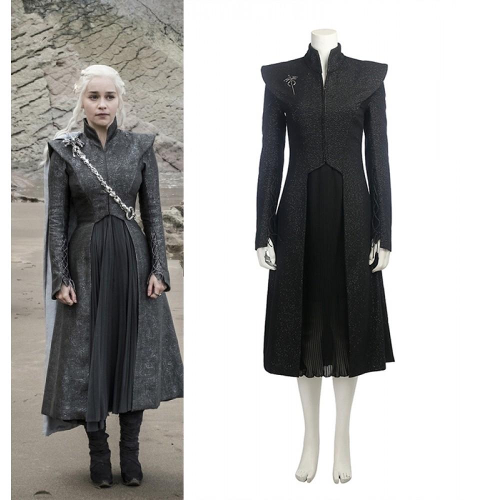 Game of Thrones 7 Daenerys Targaryen Costume Cosplay