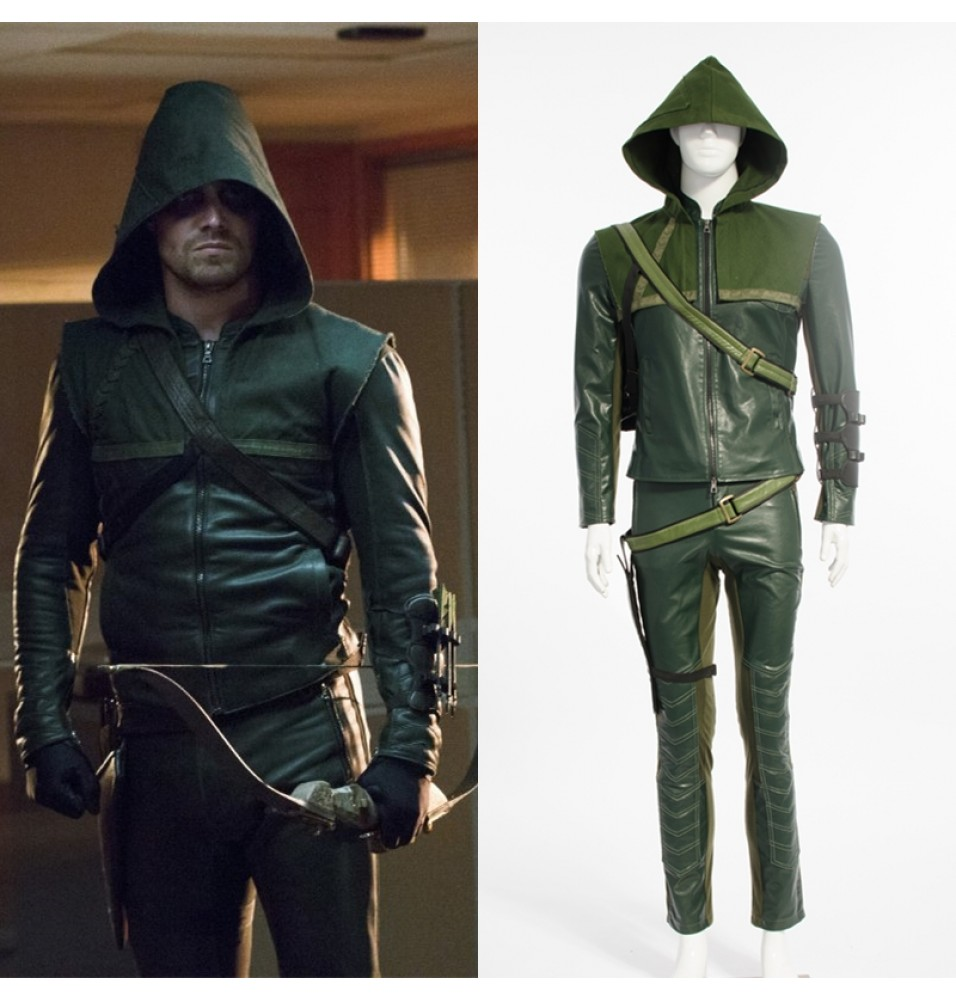 Green Arrow Season 2 Oliver Queen Cosplay Costume