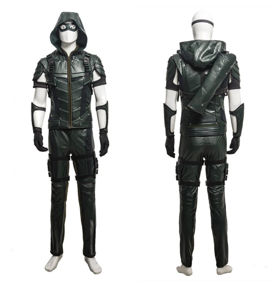 Green Arrow Season 4 Oliver Queen Cosplay Costume