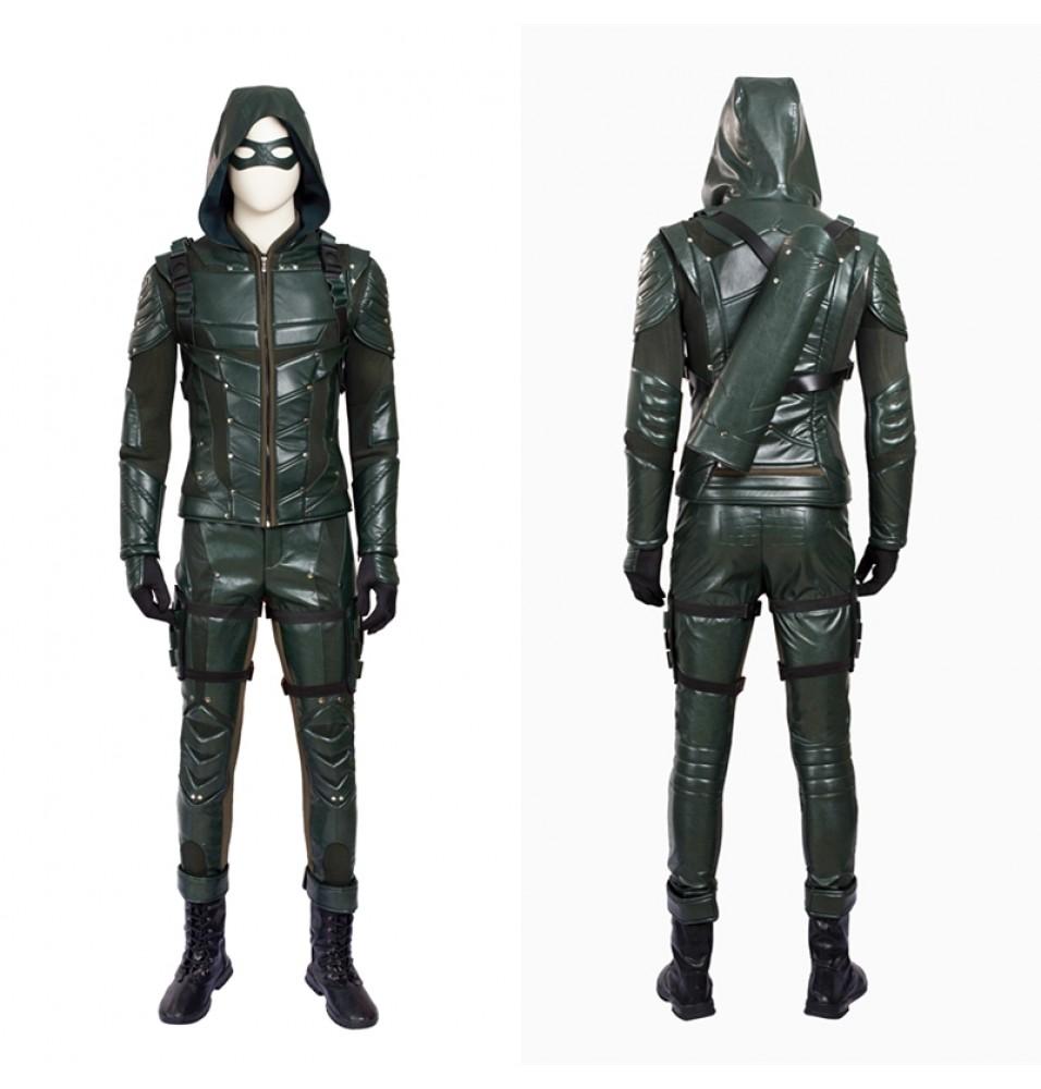 Green Arrow Season 5 Oliver Queen Cosplay Costume
