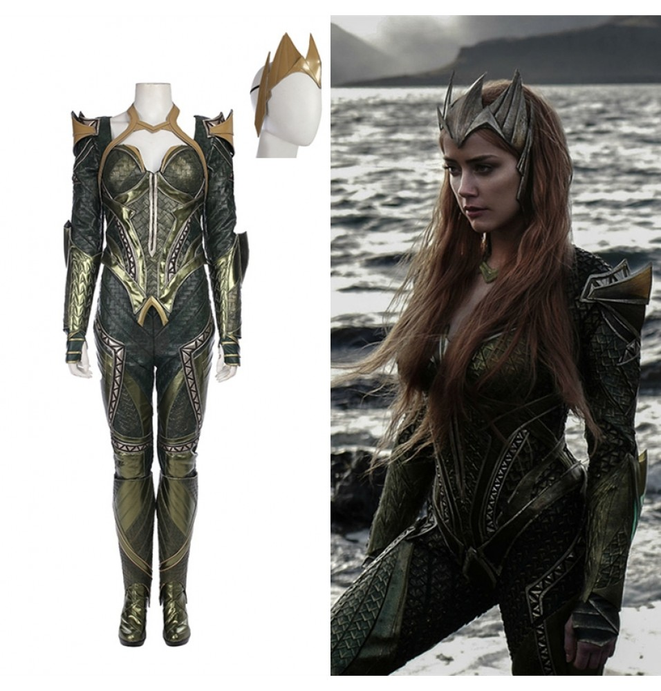 Justice League Mera Costume Deluxe Cosplay Outfit