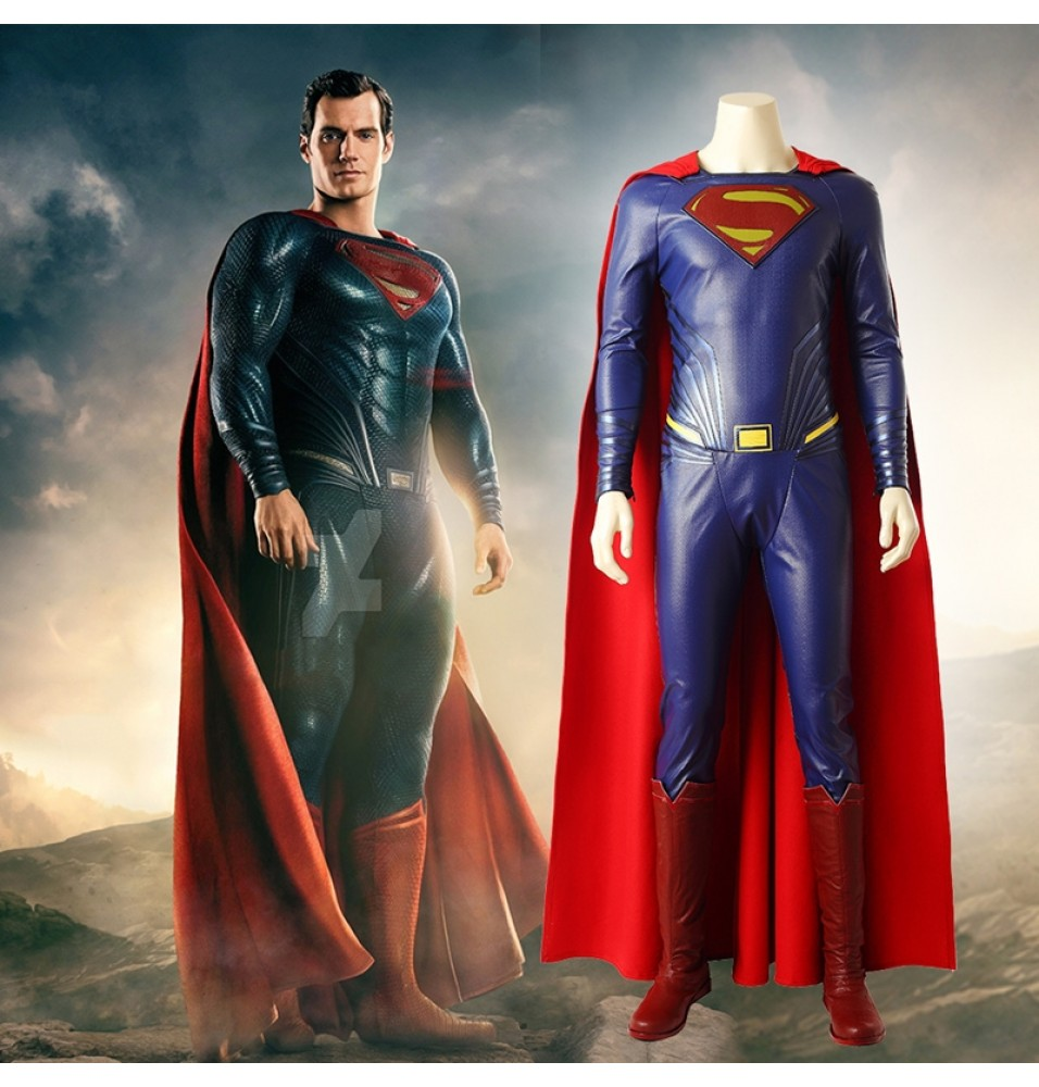 Justice League Superman Costume Clark Kent Cosplay Costume