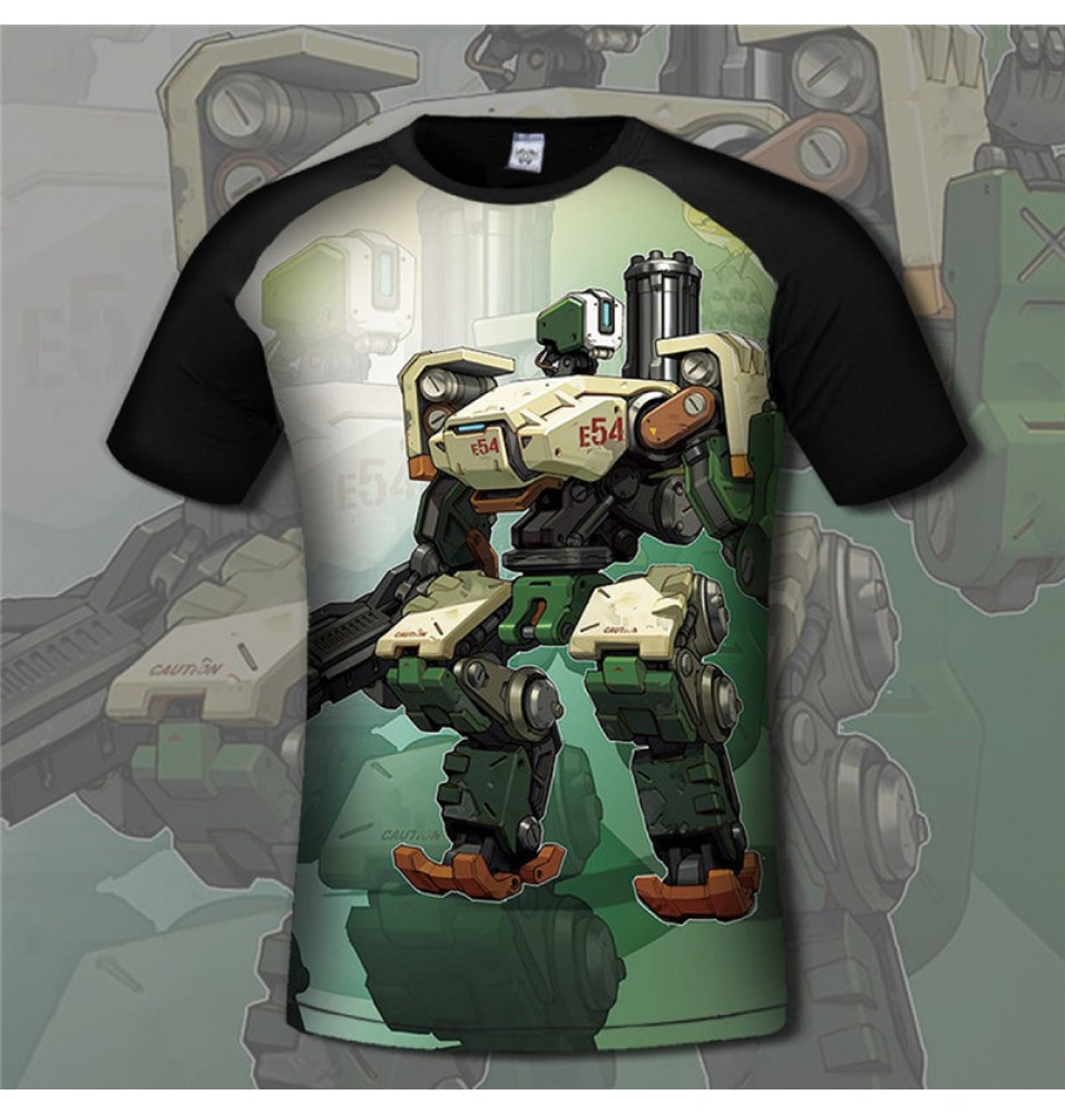 Overwatch Bastion 3D Print Men T-Shirts Tee Shirt