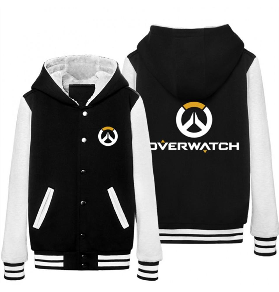 Overwatch Icon Hoodie Baseball Jacket Overcoat
