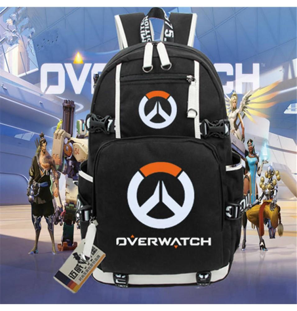 Overwatch Logo Backpack Schoolbag Bookbag