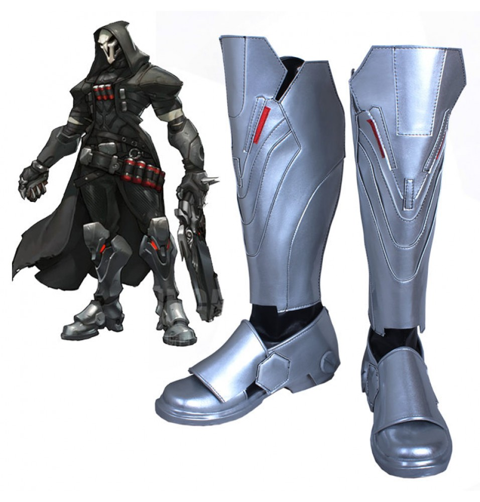 Overwatch OW Reaper Shoes Cosplay Halloween Boots