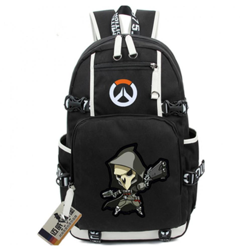 Overwatch Reaper Icon Logo Cartoon Bag Backpack