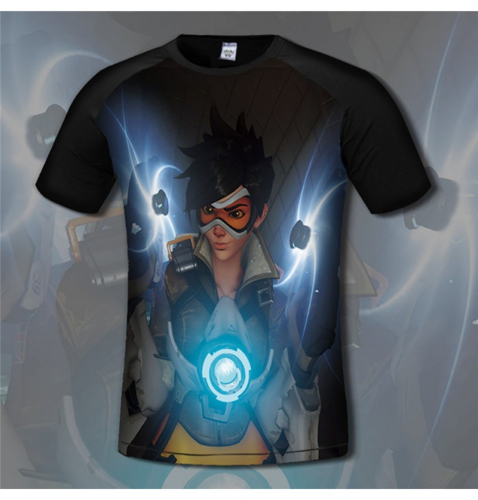 Overwatch Tracer 3D Print Men T-Shirts