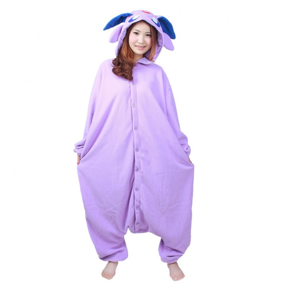 Pokemon Espeon Onesie Kigurumi Pajama For Adults