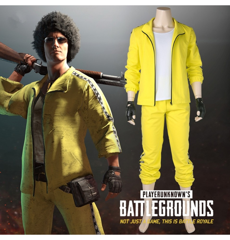 PUBG Yellow Cosplay Costume PLAYERUNKNOWN'S BATTLEGROUNDS Costume