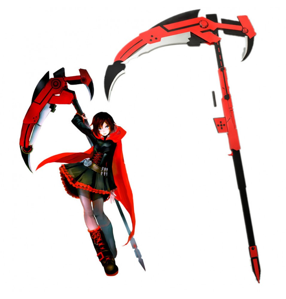RWBY Red Trailer Ruby High-Caliber Sniper-Scythe HCSS Crescent Rose Cosplay Prop