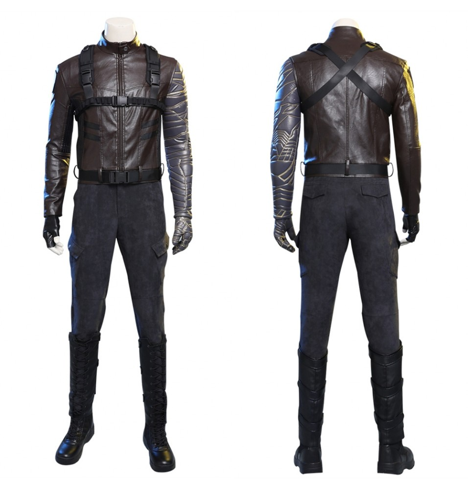 The Falcon and The Winter Soldier Bucky Barnes Cosplay Costume