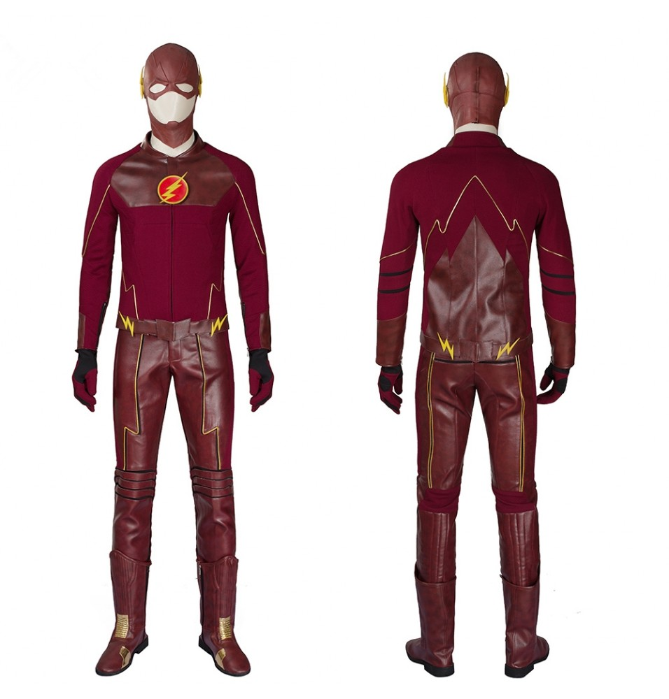 The Flash Season 1 Barry Allen Cosplay Costume Deluxe Outfit