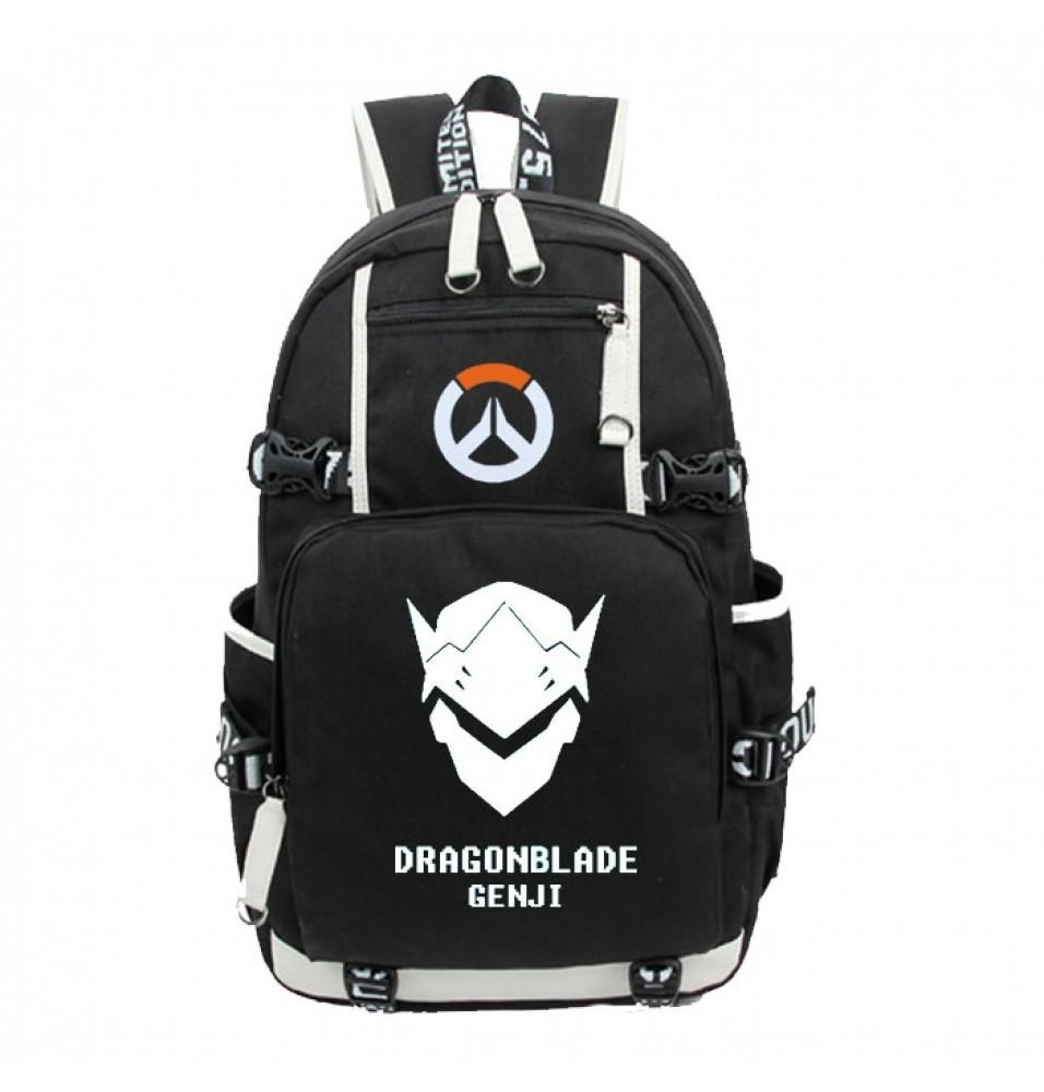 Timecosplay Overwatch Genji Icon Logo Cartoon Bag Backpack