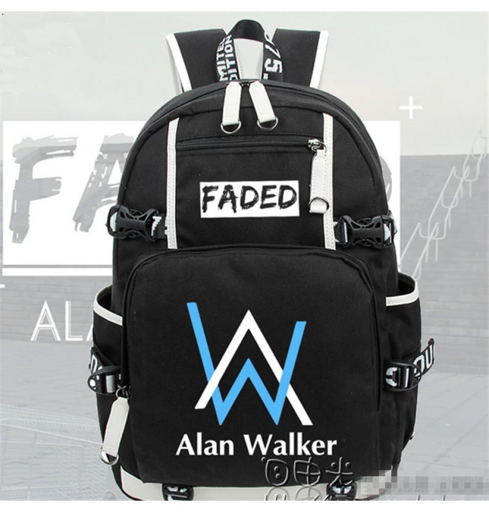 Timecosplay Alan Walker Same Style Blue Logo Backpack School Bag