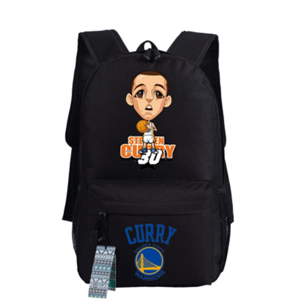Timecosplay Golden State Warriors Team 30 Stephen Curry Cartoon images Shoulders Bag Schoolbag