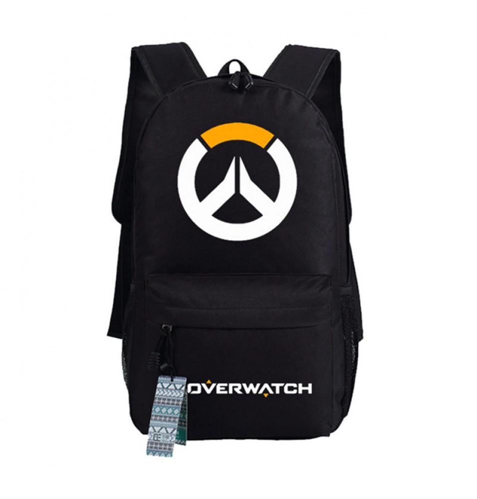 Timecosplay Overwatch logo Backpack School Bag