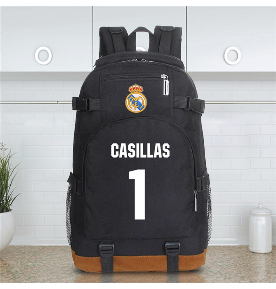 Timecosplay Real Madrid Iker Casillas Fernandez 1 Schoolbag Backpack