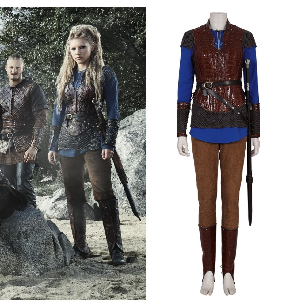 Vikings Lagertha Cosplay Costume Outfit