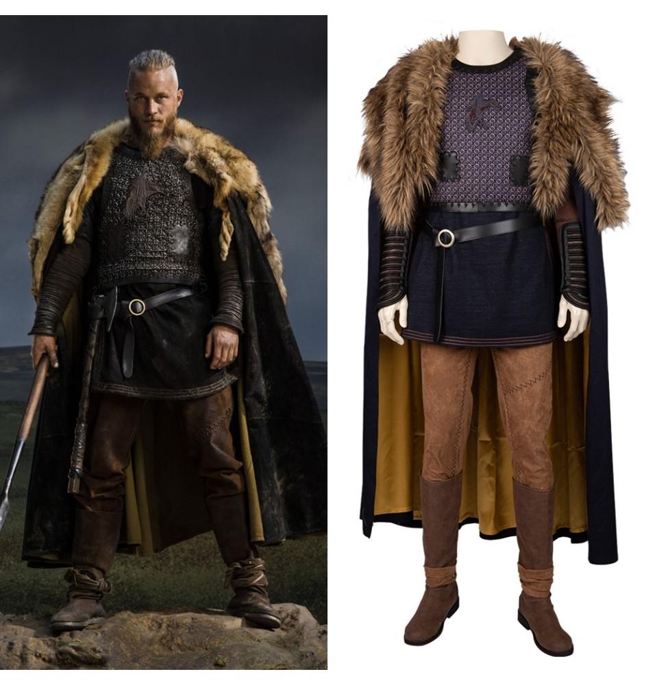 Vikings Ragnar Lothbrok Cosplay Costume Deluxe
