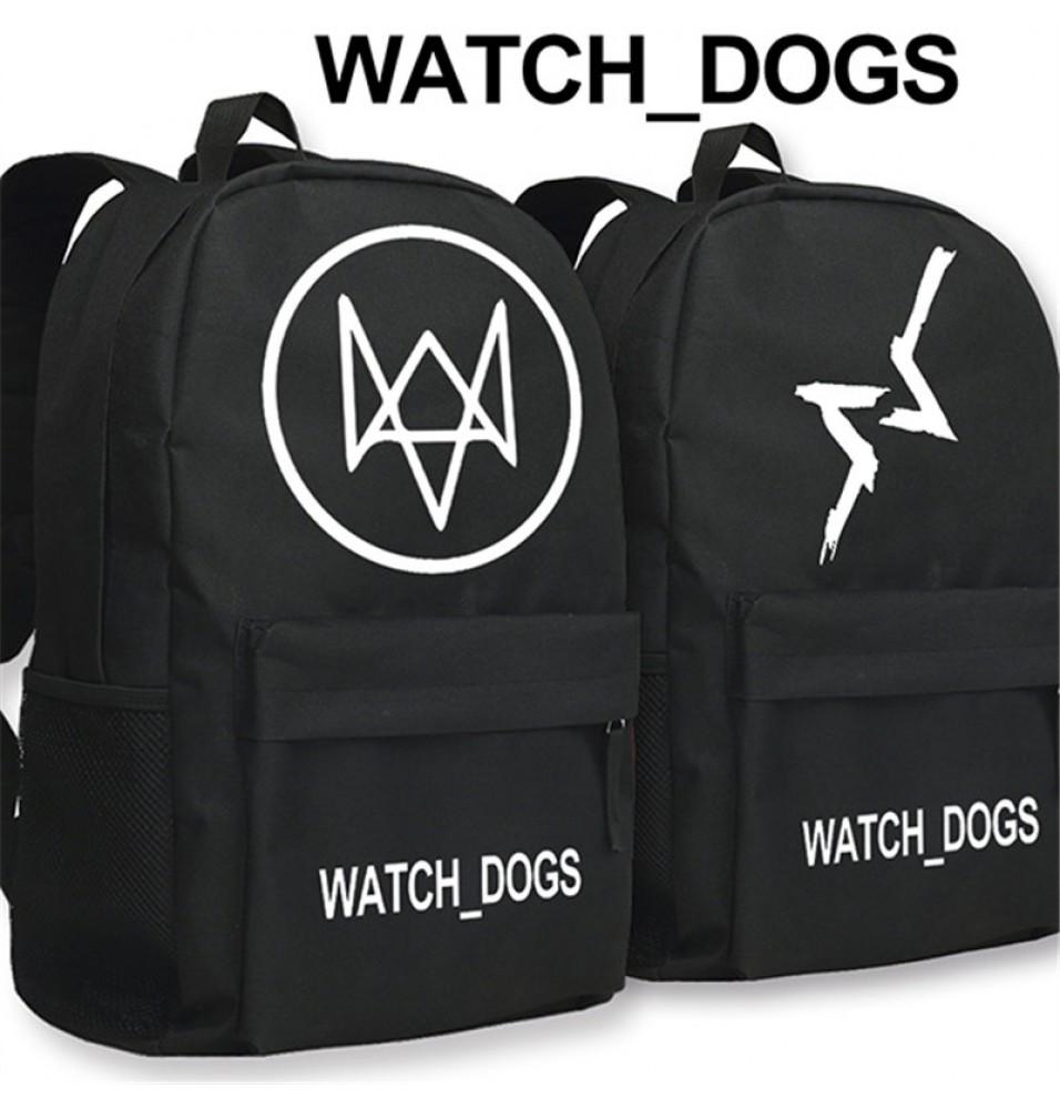 Watch Dogs Logo Backpack Schoolbag